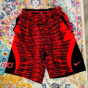 Nike KD - Red tiger stripe shorts (L)✨